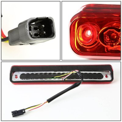 1993 Chevy 3500 Pickup Red Full LED Third Brake Light Cargo Light
