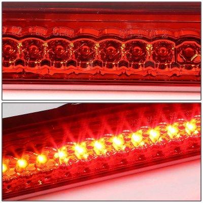 GMC Sierra 1988-1998 Red Full LED Third Brake Light Cargo Light