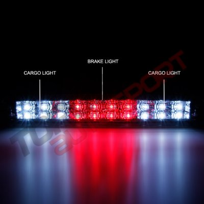 Chevy Silverado 2500HD 2007-2014 Smoked Full LED Third Brake Light Cargo Light