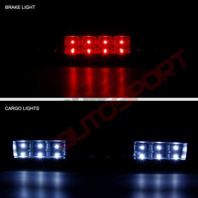 Chevy Silverado 2500HD 2007-2014 Black Full LED Third Brake Light Cargo Light