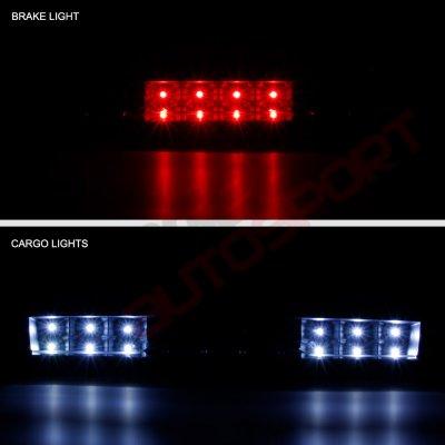 Chevy Silverado 2500HD 2007-2014 Black Smoked Full LED Third Brake Light Cargo Light