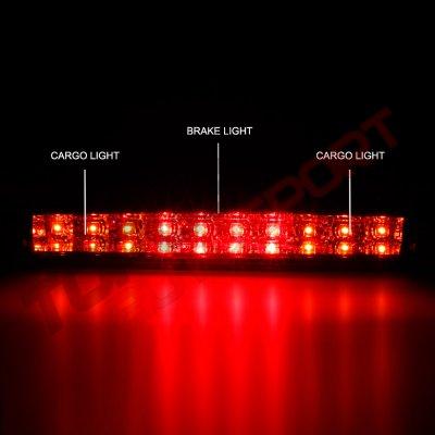 Chevy Silverado 2500HD 2007-2014 Red Full LED Third Brake Light Cargo Light