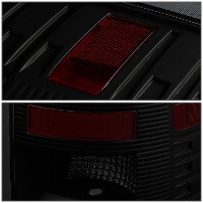 Dodge Ram 2009-2017 Tube LED Tail Lights Black Smoked