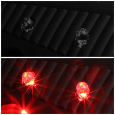 Dodge Ram 3500 2010-2017 Black Smoked LED Tail Lights Red Tube