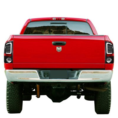 Dodge Ram 2007-2008 Black LED Tail Lights Tube