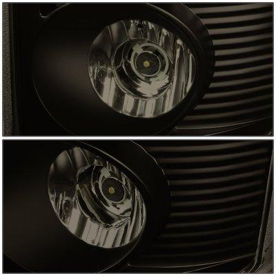 Dodge Ram 2007-2008 Black Smoked LED Tail Lights Tube
