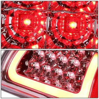 2008 Dodge Ram Chrome LED Tail Lights Red Tube