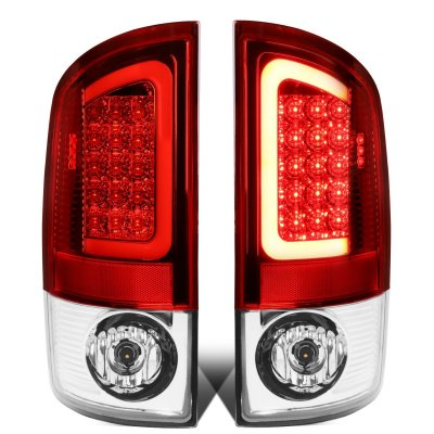 2008 Dodge Ram LED Tail Lights Red Tube