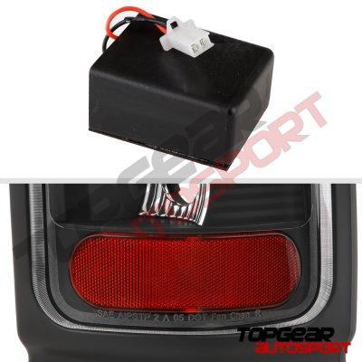 Dodge Ram 1994-2001 Black LED Tail Lights Red Tube