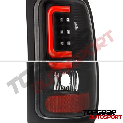 Dodge Ram 2500 1994-2002 Black LED Tail Lights Red Tube