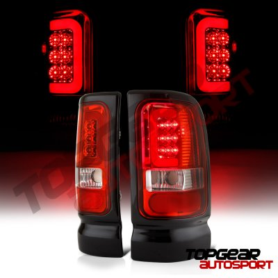 Dodge Ram 2500 1994-2002 LED Tail Lights Red Tube