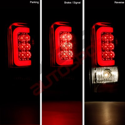 Dodge Ram 2500 1994-2002 Smoked LED Tail Lights Red Tube