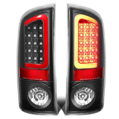 Dodge Ram 2500 2003-2006 Black LED Tail Lights Red Tube