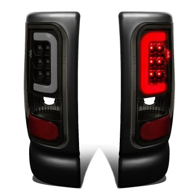 Dodge Ram 1994-2001 Black Smoked LED Tail Lights Tube