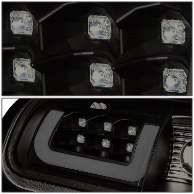 Dodge Ram 2500 1994-2002 Black Smoked LED Tail Lights Tube