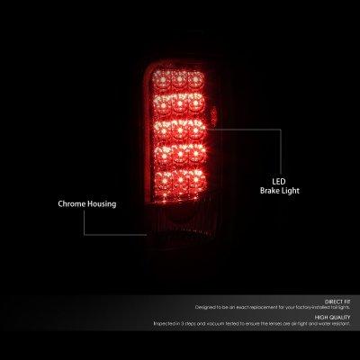 Dodge Ram 1994-2001 Chrome LED Tail Lights