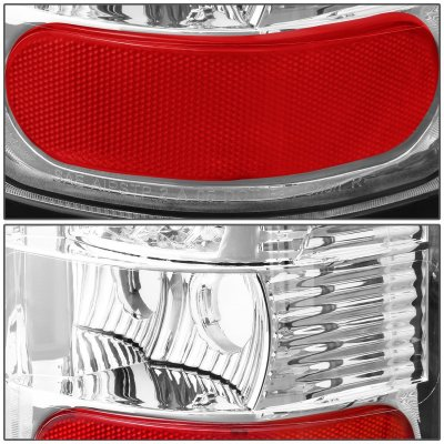 2000 Dodge Ram 2500 Chrome LED Tail Lights