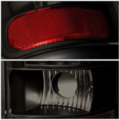 Dodge Ram 1994-2001 Black Smoked LED Tail Lights Red Tube