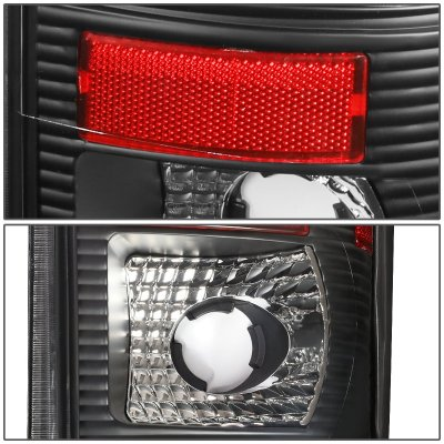 Ford F150 1997-2003 Black LED Tail Lights Tube