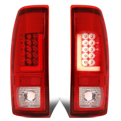 Ford F450 Super Duty 1999-2007 Red LED Tail Lights Tube