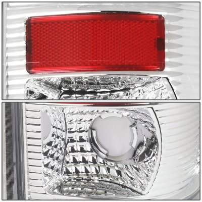 Ford F450 Super Duty 1999-2007 Chrome LED Tail Lights Red Tube