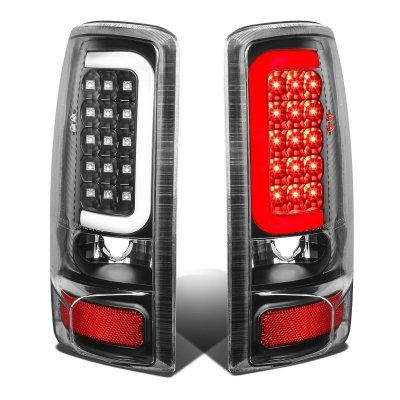 GMC Yukon 2000-2006 Black LED Tail Lights Tube