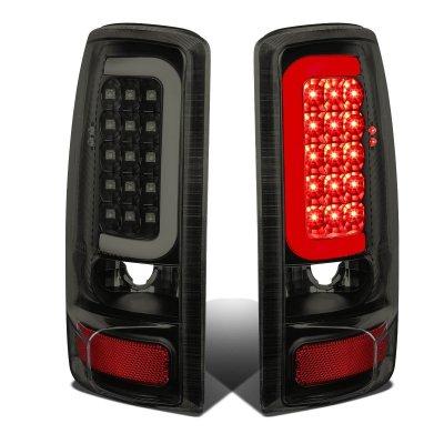 GMC Yukon XL 2000-2006 Black Smoked LED Tail Lights Tube