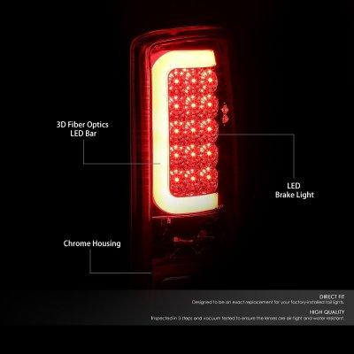 Chevy Suburban 2000-2006 Chrome LED Tail Lights Tube