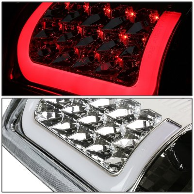 GMC Yukon XL 2000-2006 Chrome LED Tail Lights Tube