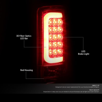 2005 GMC Yukon XL LED Tail Lights Tube