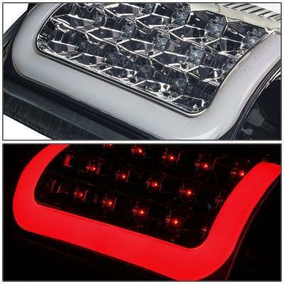 2005 GMC Yukon XL Smoked LED Tail Lights Tube