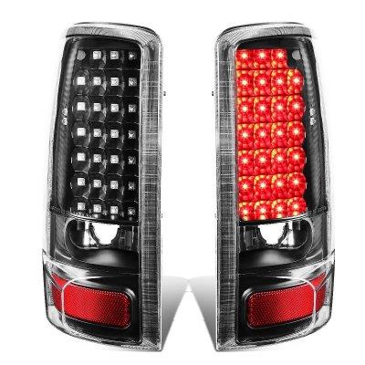 GMC Yukon XL 2000-2006 Black LED Tail Lights