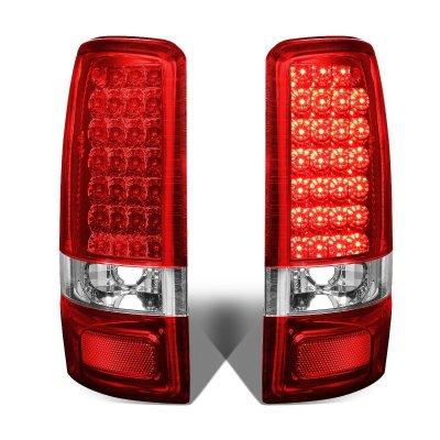GMC Yukon 2000-2006 Red LED Tail Lights