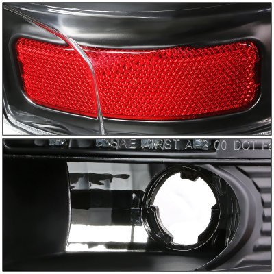 Chevy Suburban 2000-2006 Black LED Tail Lights Red Tube