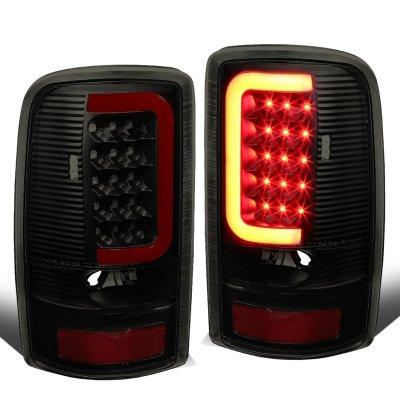 GMC Yukon 2000-2006 Black Smoked LED Tail Lights Red Tube