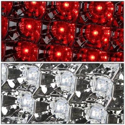 GMC Yukon 2000-2006 Chrome LED Tail Lights Red Tube