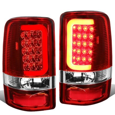 Chevy Tahoe 2000 2006 Led Tail Lights Red Tube