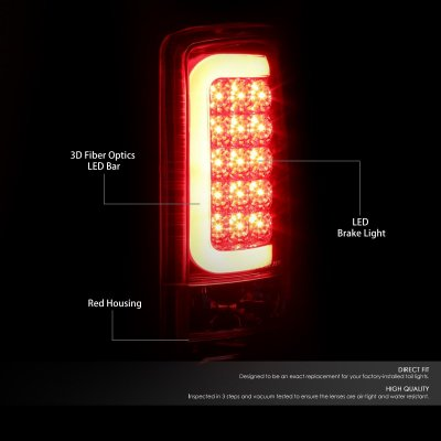 GMC Yukon 2000-2006 LED Tail Lights Red Tube