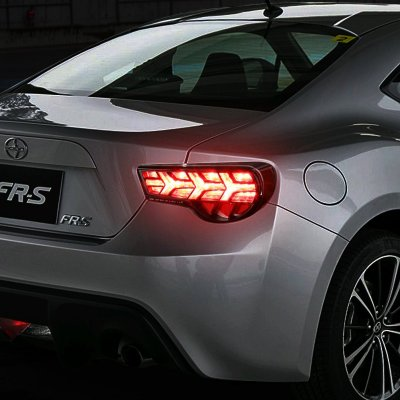 Scion Frs Ft86 2017 Black Led Tail Lights Clear Signal