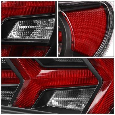 Subaru BRZ 2013-2017 Black LED Tail Lights Clear Signal