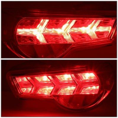Subaru BRZ 2013-2017 Chrome LED Tail Lights Clear Signal