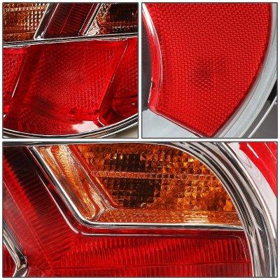 Subaru BRZ 2013-2017 Chrome LED Tail Lights Amber Signal