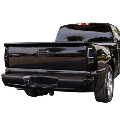Chevy Silverado 1999-2002 Black Smoked LED Tail Lights Tube