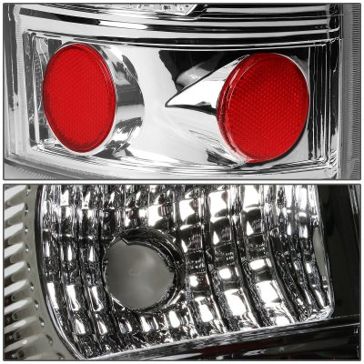 Chevy Silverado 2500HD 2001-2002 Chrome LED Tail Lights Tube