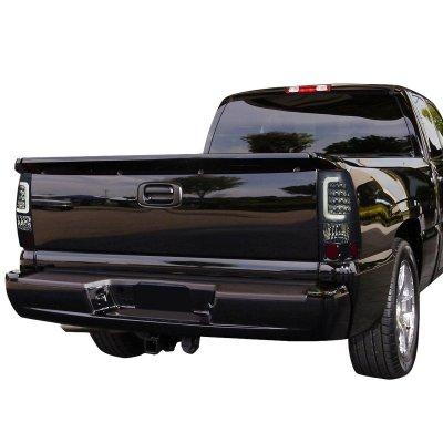 Chevy Silverado 2500HD 2001-2002 Smoked LED Tail Lights Tube
