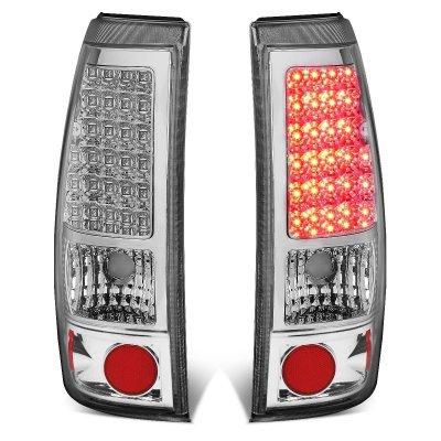 Chevy Silverado 1999-2002 Chrome LED Tail Lights