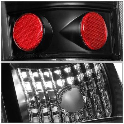 Chevy Silverado 1999-2002 Black LED Tail Lights Red Tube
