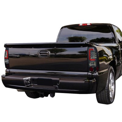 Chevy Silverado 2500HD 2001-2002 Smoked LED Tail Lights Red Tube