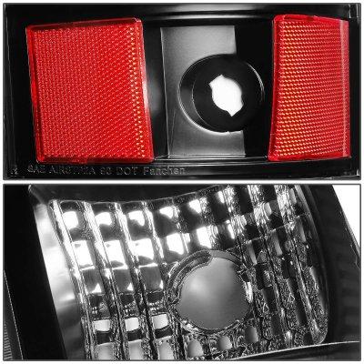 Chevy Silverado 2500HD 2003-2006 Black LED Tail Lights Tube