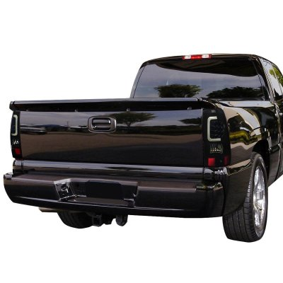 Chevy Silverado 2500HD 2003-2006 Black Smoked LED Tail Lights Tube